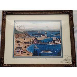 "Cindy Mangutz-""Olde Port Townsend"" Signed Print"